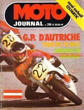 MOTO JOURNAL  218 Essai FANTIC Caballero TX 151 GP Autriche Tour de France 1975