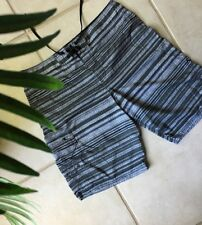 O'NEILL Men's Board Shorts 34 Gray-Black Stripe Surf Swim Skate EUC
