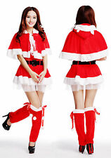 Womens Santa Claus Christmas Costume Cosplay XMAS Outfit Fancy Dress Set Hot New