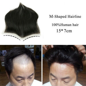 Natural Frontal  Lace with Lace Toupee Men's Hair Replacement System Hair Piece