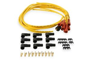 ACCEL 3008 UNIVERSAL BOOT SPARK PLUG WIRE POINT STYLE V8 SET- 7MM - YELLOW