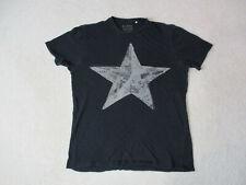 Guess Shirt Adult Medium Black Gray Star Spell Out Logo ASAP Cotton Mens 90s