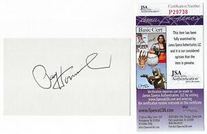 PACKERS Paul Hornung signed 3x5 index card JSA COA AUTO Green Bay HOFer