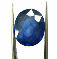 10.53 Ct Certified Natural Blue Sapphire Loose Gemstone Oval Cut Stone - 132117