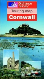 Cornwall (Touring Maps) by Ordnance Survey Sheet map, folded Book The Cheap Fast
