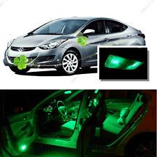 For Hyundai Elantra 13-16 Green LED Interior Kit + Green License Light LED