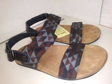 8b72c605b90d TOMS Men s Black Leather 2 Strap Slingbacks Sandals