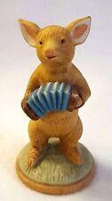 "Vintage Pig Figurine Playing Music Concertina Enesco Vintage 1979 Ceramic 3.5"""