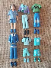 "Polly Pocket Dolls Clothing Boy ""Colors of the Rainbow"" Blue Lot P9"