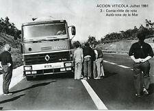 CARTE POSTALE / POSTCARD / ACTION VITICOLE JUILLET 1981 CONTROLE ROUTIER