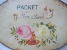 Metal Floral Decorative Plaques & Signs