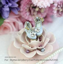 Retro gem heels shoes_BLUE for Blythe / DAL / Pullip / Momoko/AZONE