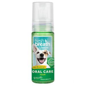 TROPICLEAN Instant Fresh Breath Foam 4.5 fl oz Dental Clean Pet Dog Cat Teeth