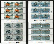 South Georgia 2009 Naval Aviation  block of 6 superb MNH condition.