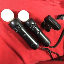 Sony PlayStation 3 Move Motion Controllers Bundle PS3 Eye Camera CECH-ZCM1U