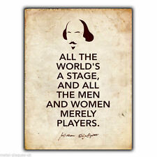METAL SIGN WALL PLAQUE WILLIAM SHAKESPEARE As You Like It Quote poster wall art