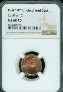 2019-W LINCOLN CENT NGC MS-68 RD *MM