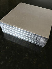 Culpitt Cake Sugarcraft Boards Wedding Decorating Drum Board 13mm Thick 5 Pack SWD16F Silver - Square