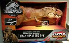 New Jurassic World Battle Damage Tyrannosaurus Rex Figure Roarin' Super Colossal