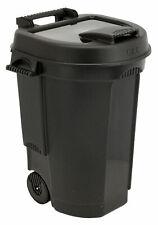 Abfalltonne mit Deckel fahrbar 110L - Mülltonne Garten Tonne Abfalleimer schwarz