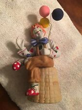 Vintage 1955 Enesco Porcelain Clown Figurine With Balloons