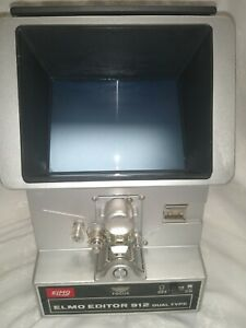 Elmo Editor 912 Dual Type 8mm Film Viewer Dual Arm Vintage Japan  *AS IS*