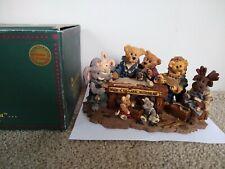 Boyds Bears Noah & Co Ark Builders Retired #2278 1996 Box Bearstone Collection