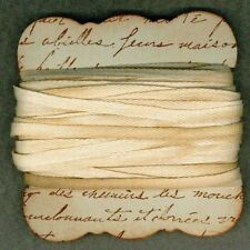 10 yds Simple flat woven 1/4 cotton french chic cottage tea dyed ribbon      832