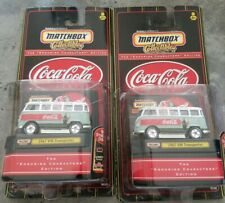 Matchbox Collectibles Coca Cola 1967 VW Transporter Bus In Package Lot of # 2
