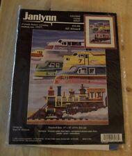 Janlynn Counted Cross Stitch Kit All Aboard # 13-236 Kit Train