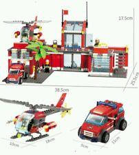 774pcs City Fire Station Building Blocks DIY Educational Bricks Kids Toys Gift