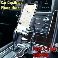 New Universal Car Adjustable Gooseneck Cup Holder Cradle Mount for Cell Phone US