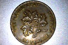 Canada 1867 1967 Unc Confederation Maple Leaf Token
