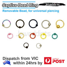 Captive Bead Ring Piercing Lip Eyebrow Ear Tragus Helix Nipple Nose Universal