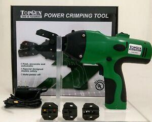 Top Gun Battery Powered Crimping Tool versus Greenlee EK50ML13811 - NEW