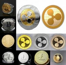Ripple Coin! Bitcoin! Litecoin! Ethereum Coin! Gold Plated w/Box Free Shipping