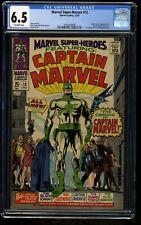 Marvel Super-Heroes #12 CGC FN+ 6.5 Off White 1st Captain Marvel! Comics