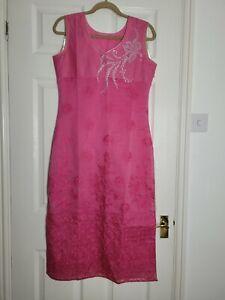 Pink Summer Indian Top Tunic Kurta Size Medium 10