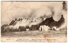 World War 1 (1914-1918) Maisons en flammes- Burning houses Anvers