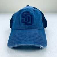 San Diego Padres SD New Era 9FORTY MLB Cooperstown Trucker Snapback Hat Blue