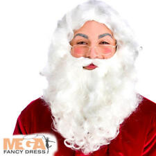 Deluxe Santa Beard Mens Fancy Dress Father Christmas Adult Costume Accessory New