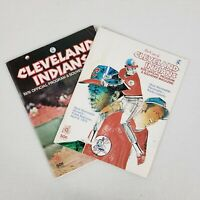 Lot of 2 Cleveland Indians 1976 Unscored Souvenir Programs Oakland and Baltimore