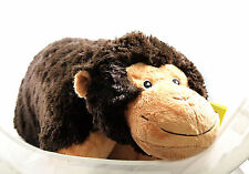 "Large 20"" x 18"" Plush Pet Animal Monkey Stuffed Toys Pillow, Brown"