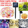100 / 200 LED Solar Power Fairy Lights String Lamps Party Wedding Outdoor Garden