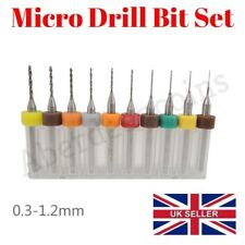 10 x 0.3-1.2mm Micro Drill Bit Set CNC Print Circuit Board Carbide Rotary Dremel