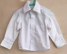 Baby Boys White Smart Shirt Age 0-6 Months Vianni Collection<NH4037