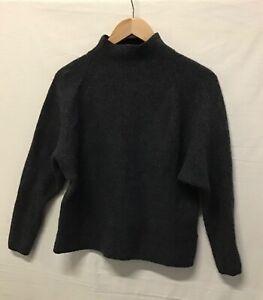 Ralph Lauren Ladies Jumper Wool Cashmere Mix Grey Winter Pullover Size L (002)