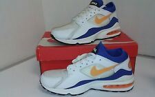 Nike Air Max White, Blue, Orange Mens US Size 9.5 (E2)