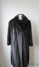 Women's Sz 18  Natural Dark Ranch Mink Fur Coat SUPERB  XXXLarge