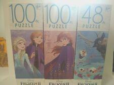 Disney Frozen II  Elsa And Anna & Friends Olaf  Puzzles (2) 100  & (1) 48 Piece
